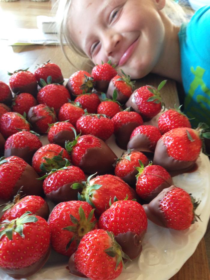 jordbær sjokolade