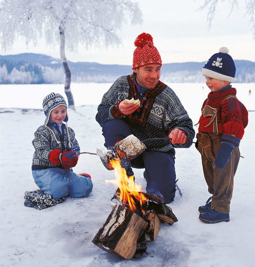Grilling ute på vintreren