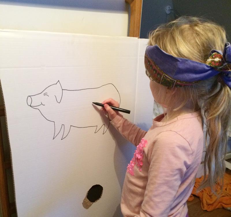 tegne halen på grisen