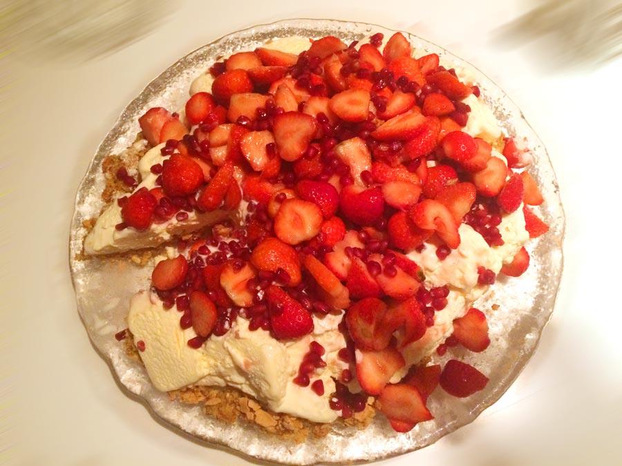 Iskake som dessert